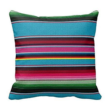 Pillow Cover Penelope Le mexicain Couvre-lit Taie doreiller Pour canapé Home décoratif Taie doreiller avec fermeture éclair Invisible Canapé Housse de Coussin 18?x 18 B 557592