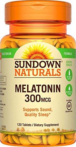 Melatonin 300 Mcg - (2 Pack) Sundown Naturals Melatonin, 300 mcg, Tablets, 120 tablets by Sundown