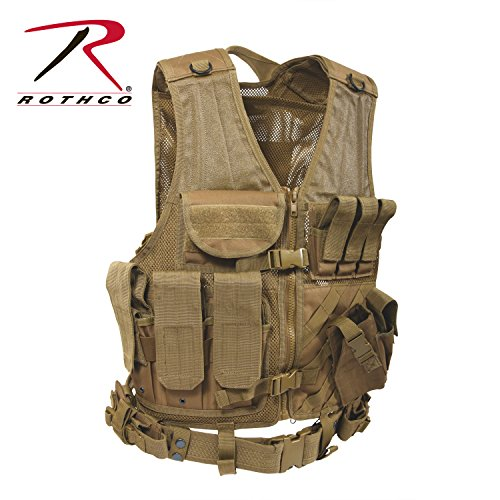 Rothco Tactical Cross Draw Vest, Coyote ()