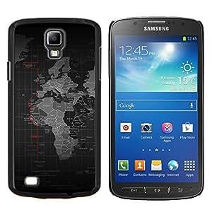 EJOOY---Cubierta de la caja de protección para la piel dura ** Samsung Galaxy S4 Active i9295 ** --Mapa del mundo