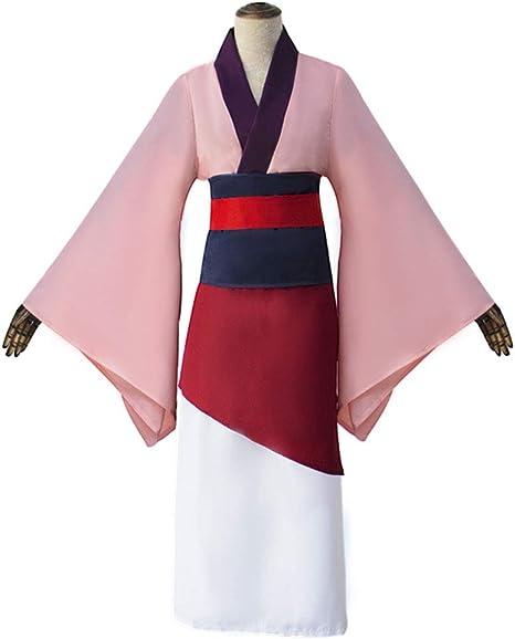 LJLis Hua Mulan Cosplay Traje Japonesa Kimono Robes Anime Cosplay ...