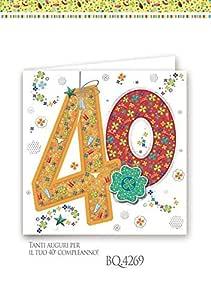 Boutique tarjeta felicitación cumpleaños 40 años cuadrado a ...