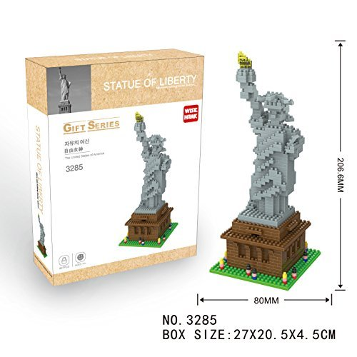 Statue of Liberty Micro Sized Mini Building Blocks