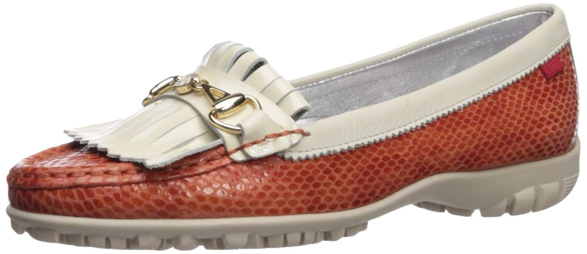 MARC JOSEPH NEW YORK Womens Leather Made in Brazil Lexington Golf Shoe, Coral Snake, 11 M US by MARC JOSEPH NEW YORK
