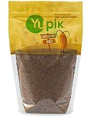 Yupik Organic Brown Flax Seeds, Non-GMO, Vegan, Gluten-Free, 1Kg