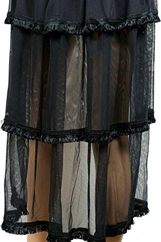 Gothic Lolita Romantic Rock wie Tournüre Rüschen zum binden one size