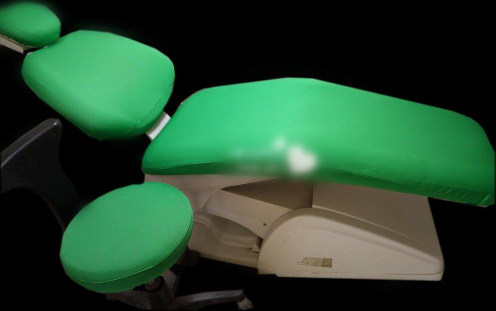 1 Set Dental Chair Unit Cover Dentist Stool Sleeves Elastic Washable Headrest Backrest Protector Green Color Promotion