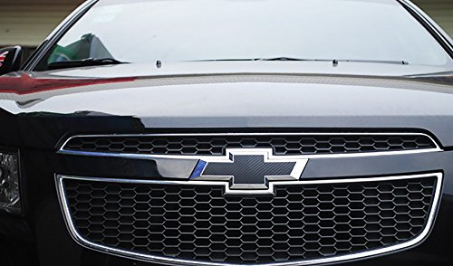 Bwen 2 PCS Black Carbon Fiber Emblem Sticker For Chevrolet Cruze 2009-2014 by Bwen (Image #1)
