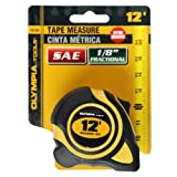 Olympia Tools 43-231 3/8-Inch  by 12-Feet  Tape Measure SAE