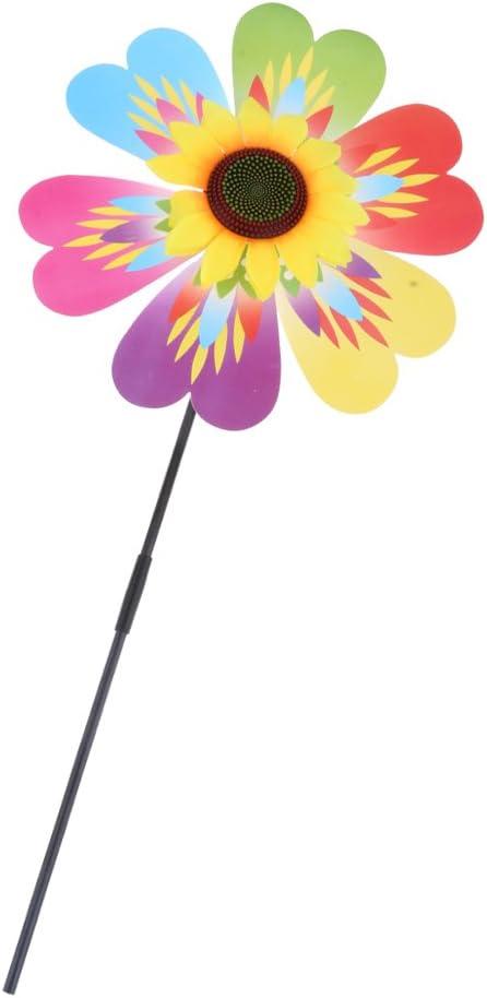 Molinillos de Viento Forma de Flor Plástico Decoración de Jardín ...