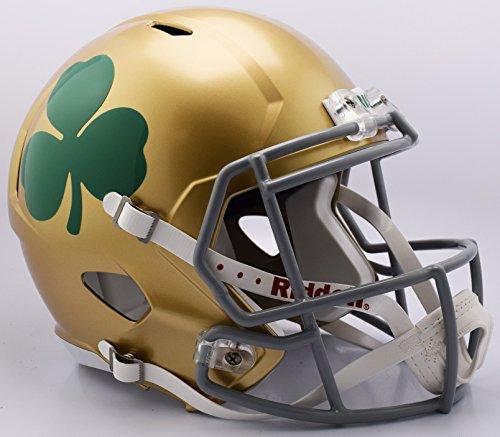 (Riddell NCAA Notre Dame Fighting Irish Helmet Full Size ReplicaHelmet Replica Full Size Speed Style 2016 Shamrock, Team Colors, One Size)