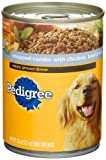 Pedigree Meaty Ground Dinner Chopped Combo with Chicken, Beef and Liver Food for Dogs, 13.2-Ounce Cans (Pack of 24), My Pet Supplies
