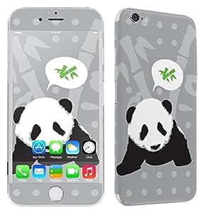 "[SkinGuardz] Apple iPhone 6 PLUS (5.5"") Vinyl Decal Scratch Protector Sticker Skin-[Black Panda Bamboo]"