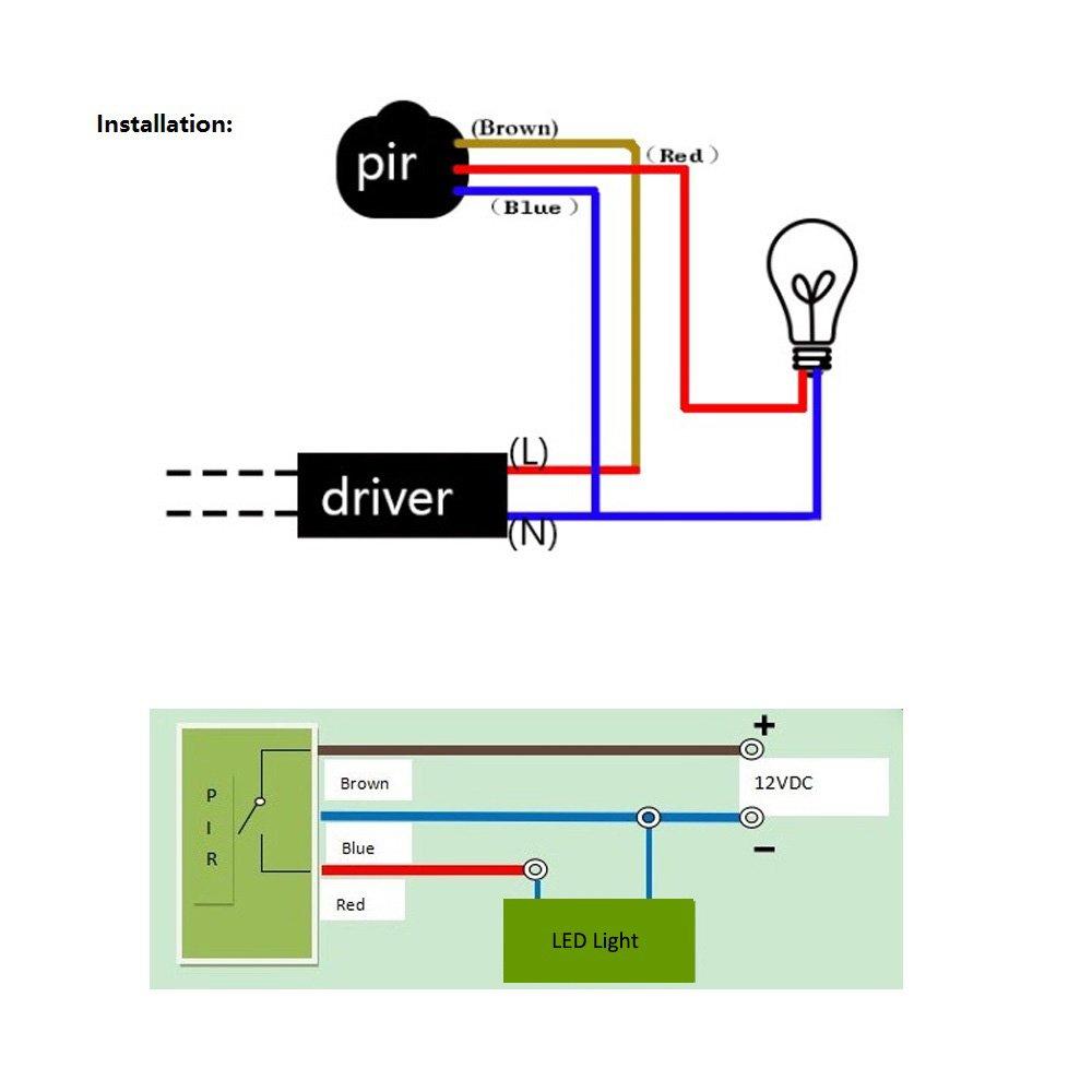 Sensor Movimiento Infrarrojos crepuscular integrado exterior detector movimiento Sensor presencia Interruptor, Negro , 1: Amazon.es: Industria, ...
