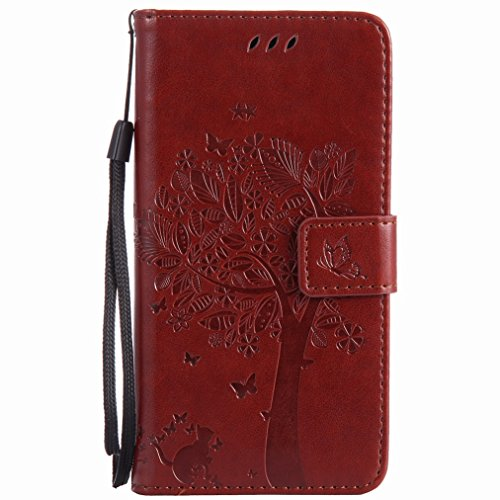 Yiizy Casemate J5 (2017) Case, Tree Design Drawing Flap Wallet Flip Cover Housing Case Premium Pu Leather Cover Shell Bumper Skin Slim Protective Shell Case Stand Card Slot