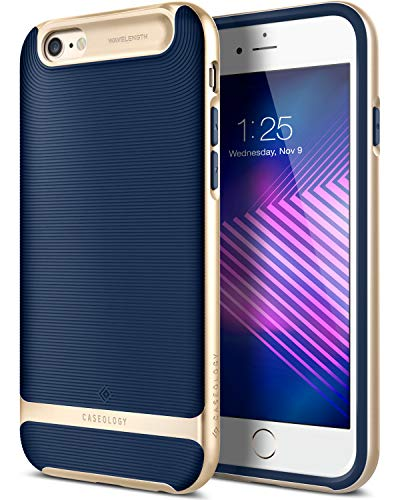 Caseology Wavelength for iPhone 6S Plus Case (2015) / iPhone 6 Plus Case (2014) - Stylish Grip Design - Navy Blue