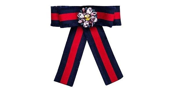 Corbata pre-Atada de Las Mujeres del Grosgrain Flor Pre Bow Pin ...