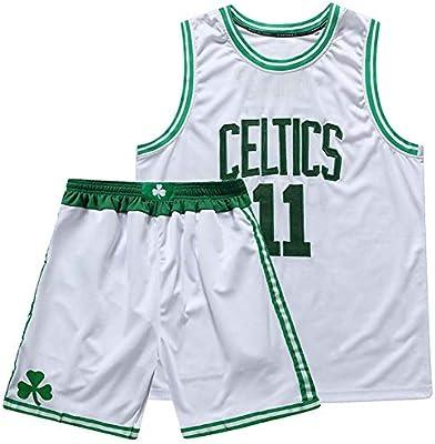 KSITH Camiseta de La NBA Celtics # 11 Jersey Traje de Dos Piezas ...
