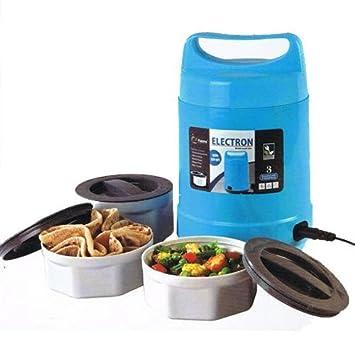 King internacional 3 Tier calentador eléctrico caja de almuerzo | calentador de alimentos comida bento portátil