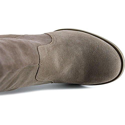 Carlos Från Carlos Santana Galina Kvinnor Rund Tå Läder Över Knä Boot Mustang