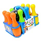 MagiDeal 12Pcs Plastic Mini Bowling Ball Toy Kit Kids Toddlers Sport Game Educational Toy Birthday Gift