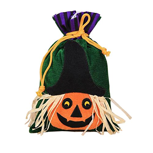 Halloween Pumpkin Drawstring Bags for Kids Play Trick or Treat Sweet Candy Snack Hand Bag Gift for The eve of Halloween WJR03 (Pumpkin -