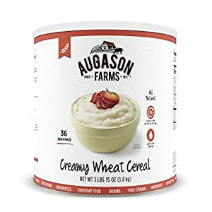 Augason Farms Creamy Wheat Cereal 3 lbs 15 oz (1.8 kg) Can (Pack of 2)