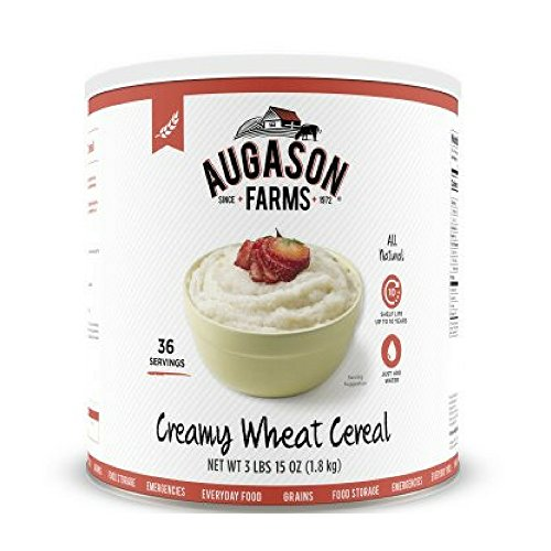 Augason Farms Creamy Wheat Cereal 3 lbs 15 oz (1.8 kg) Can (Pack of 4) ()