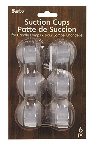 Darice 2445-96 Suction Cup for Candle Lamps (12 Suction Cups)