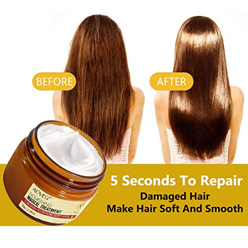 Magical Keratin Hair Treatment Mask, Repairs Damage Restore Soft Hair Care 5 Seconds Repairs Damage Hair Root, Deep…