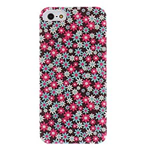 JJE Colorful Sunflower Pattern PC Hard Case with Interior Matte for iPhone 5/5S
