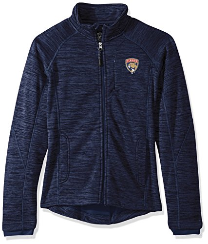 GIII For Her NHL Florida Panthers Women's Hand Off Full Zip Jacket, Small, Navy ()