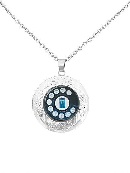 nuovo concetto bccac fa1c7 Collana con ciondolo portafoto placcato in argento ispirato ...