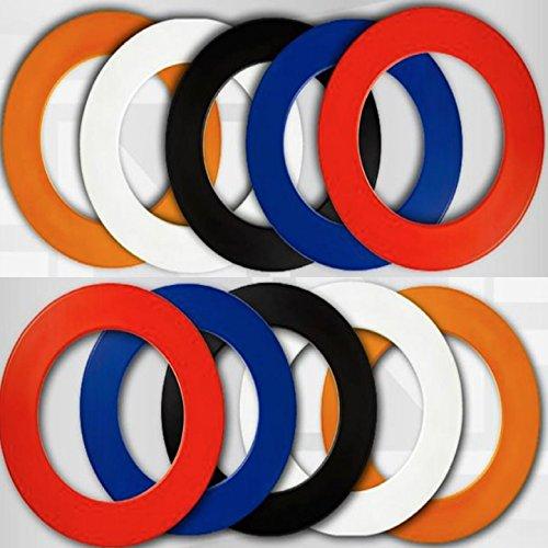NODOR PLAIN DARTBOARD SURROUND RUBBER RING ORANGE by PerfectDarts by PerfectDarts