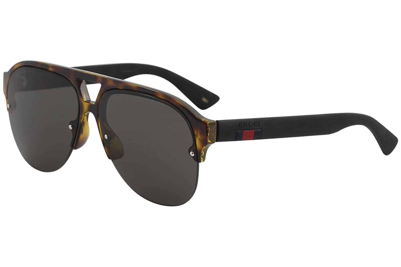 623a608c68 Amazon.com  Gucci GG 0170 S- 003 HAVANA   GREY BLACK Sunglasses  Clothing