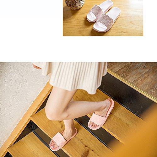 ZZHF bain Chaussons de chaussons confortables en antidérapants des option Accueil à à f plat 3 des plat à l'intérieur femme maison la de chaussons avec Chaussons la mode couleurs B l'intérieur taille OZrPO7