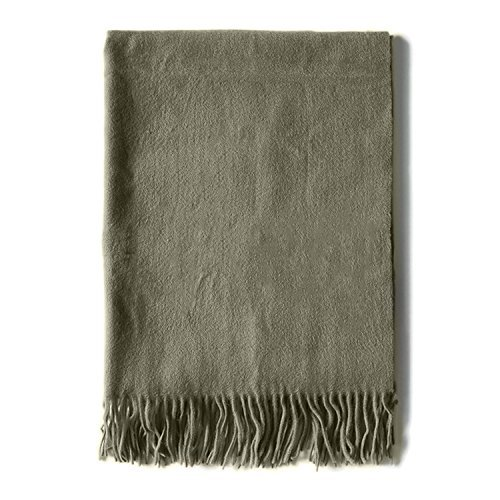 HOMEE Scarf Autumn Winter Thickening Warm Solid Color Scarf Shawl Long Section of Women,Pea green by HOMEE