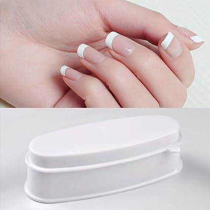 Molde para uñas en polvo, portátil, bandeja francesa para manicura, herramientas de maquillaje