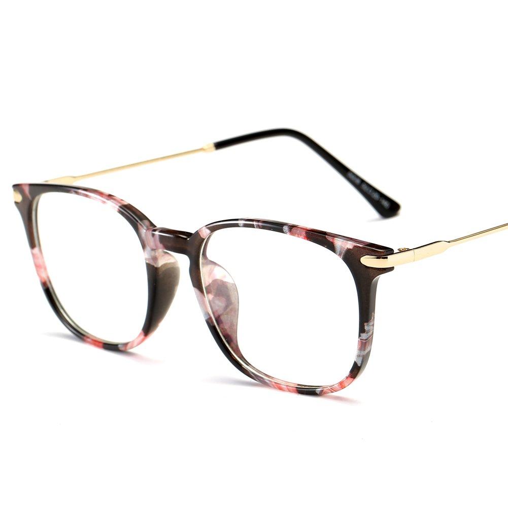 ZAKLINA TR90 Anti Blue Light Computer Glasses Frame For Women & Men clear) 5008