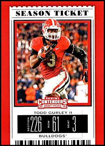 2019 Panini Contenders Draft Season Ticket #95 Todd Gurley II Georgia Bulldogs NCAA Football Trading Card