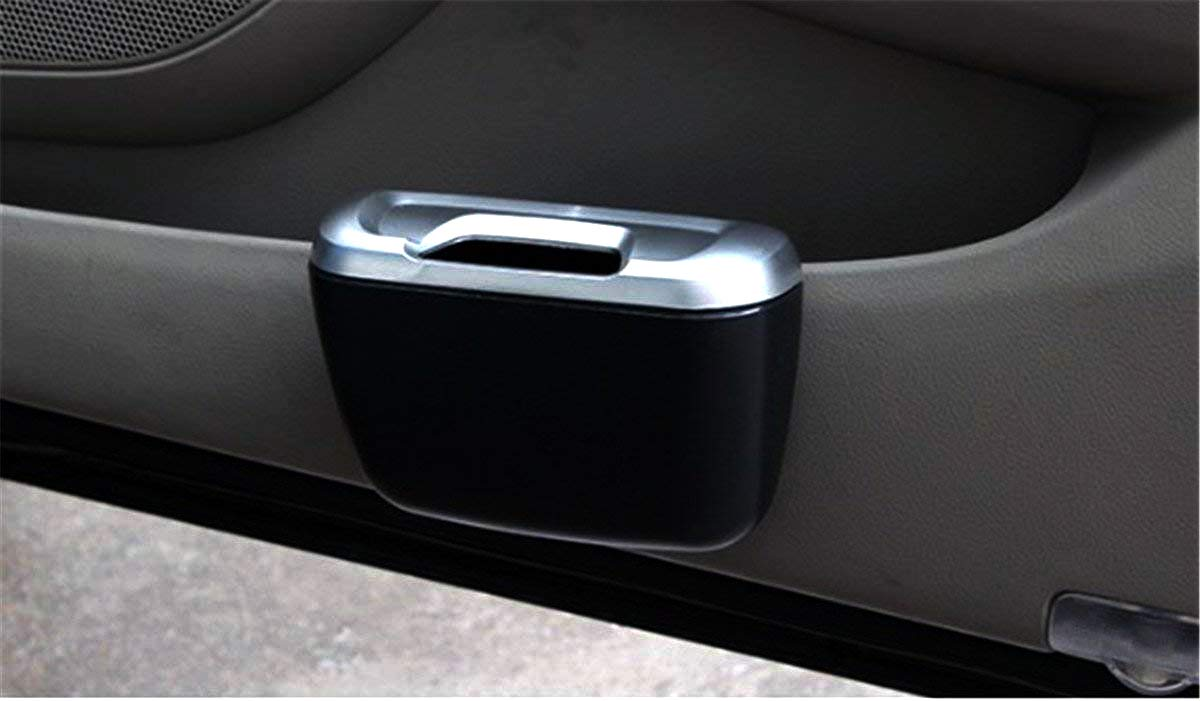 Blue Fochutech Car Auto Garbage Trash Can Automotive Waste Storage Office Home Rubbish Bin for Vehicle Door with Clip