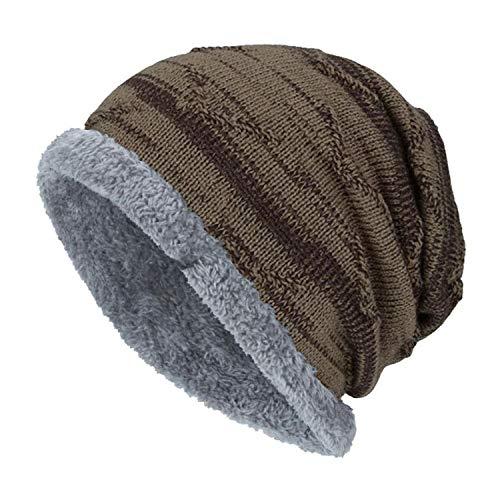 Boys Men Winter Hat Knit Scarf Cap Men Caps Warm Fur Skullies Beanie Bonnet Hat Cap Wool -