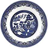 Churchill Blue Willow Fine China Earthenware Pasta Dish 11'', Made In England