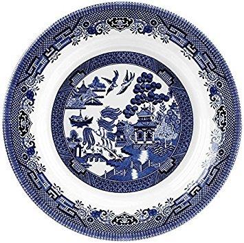 Churchill Blue Willow Fine China Earthenware Pasta Dish 11