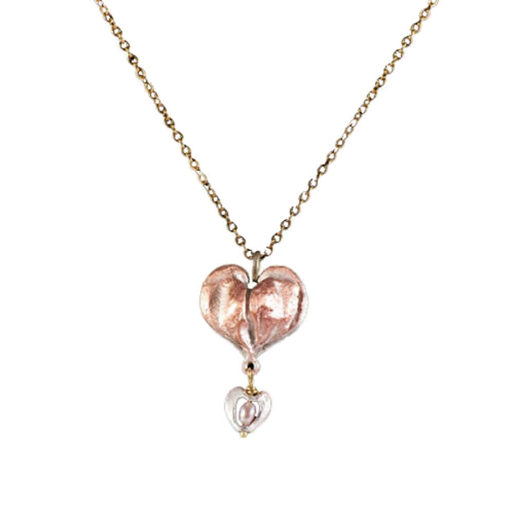 """Bleeding Heart"" Drop Necklace by Michael Michaud for Silver Seasons"