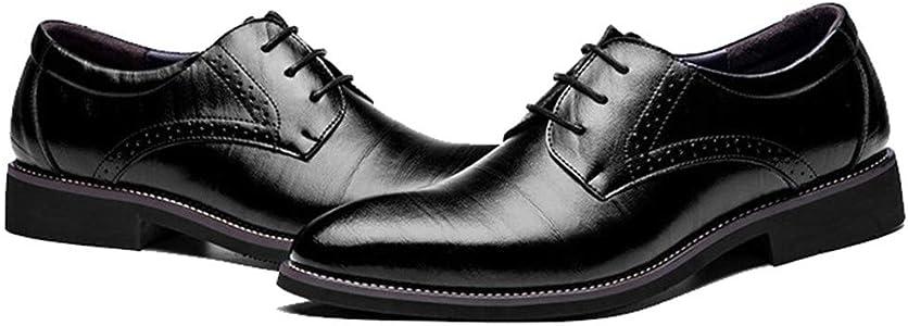 Zapatos de Vestir para Hombre Zapatos de Cuero Brogues Oxford con Cordones Mocasines Formales Zapatos de Negocios: Amazon.es: Zapatos y complementos