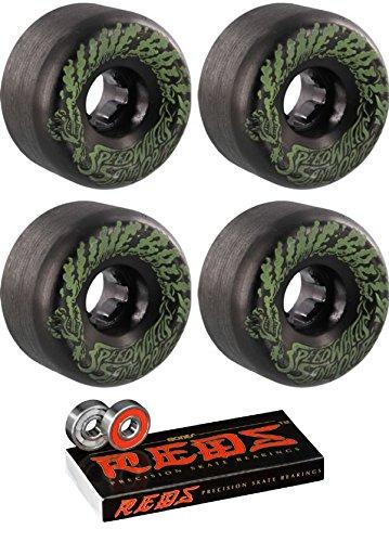 依存する事実上パドルSanta Cruz Skateboards 56 mm Slimeballs VomitsミニスケートボードWheels with Bones Bearings – 8 mm Bones Reds Precisionスケート定格スケートボードベアリング – 2アイテムのバンドル