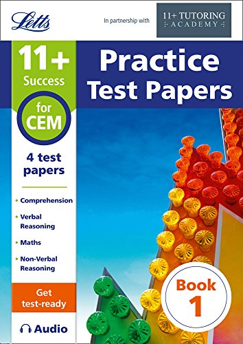 Letts 11+ Success ― 11+ Practice Test Papers Book 1, Inc. Audio Download: For The CEM Tests
