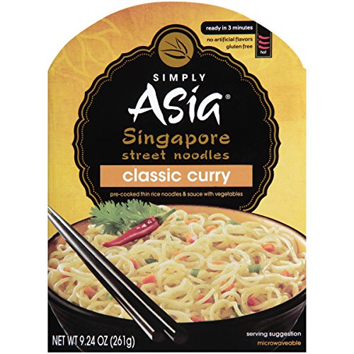 (Simply Asia Classic Curry Singapore Street Noodles, Gluten Free Noodles, 9.24 oz (Pack of 6))