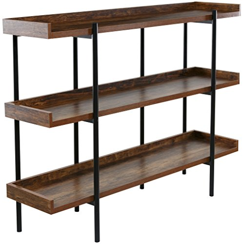 OneSpace Modern Wood and Steel 3-Shelf Display, Cherry for sale  Delivered anywhere in USA